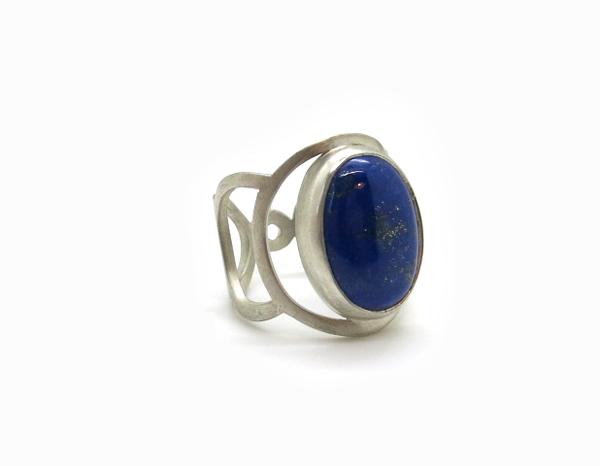 Bague en argent ajouré Argent et Lapis lazuli