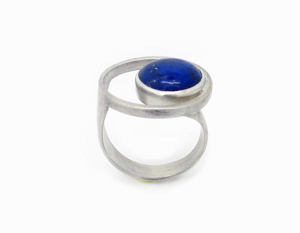 Bague PlanèteArgent et Lapis lazuli