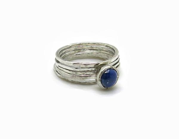 Bagues à assembler Argent et Lapis lazuli