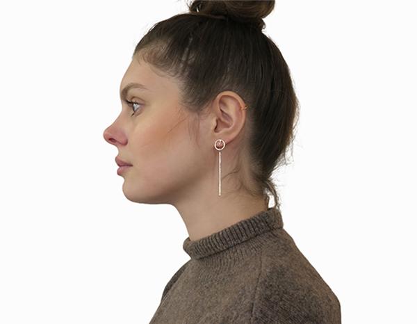 Boucles d'oreilles petites tiges