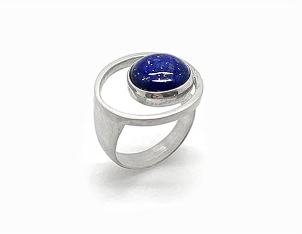 Bague PlanèteArgent et Lapis-Lazuli