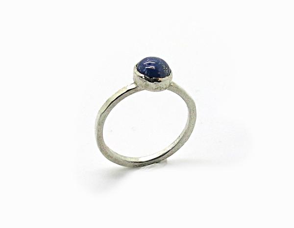 Bague Pierre Argent et Lapis-Lazuli