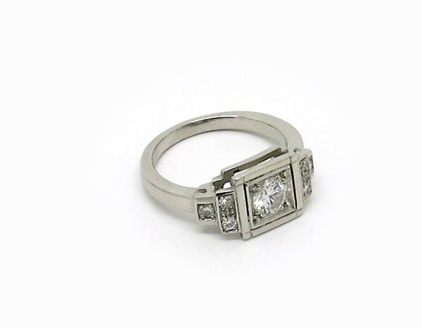 bague de mariage en platine et diamant