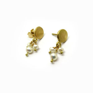 Pendants d'oreilles or jaune 18 carat