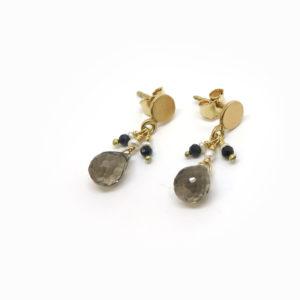 Petites boucles d'oreilles pendantes en or 18 carat