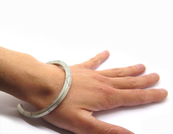 bracelet massif en argent pour homme