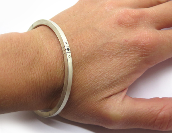 Bracelet pour homme pierre noire