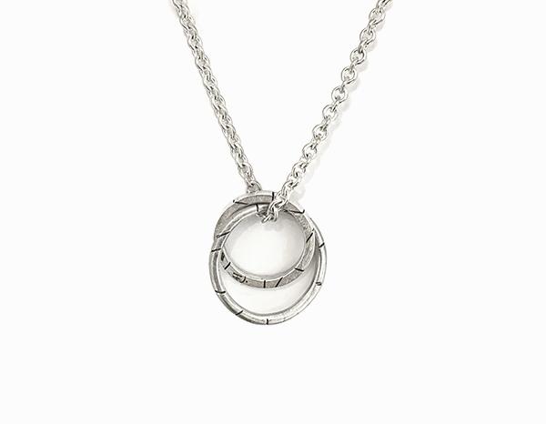 Collier deux anneaux
