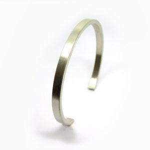 Bracelet manchette en argent pour homme