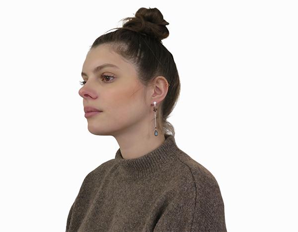 Boucles d'oreilles chaînes