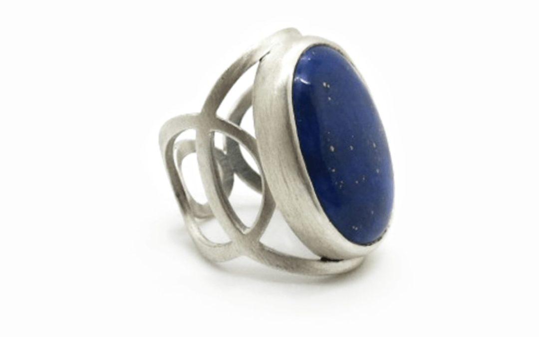 Bague bleu nuit Argent et Lapis-Lazuli
