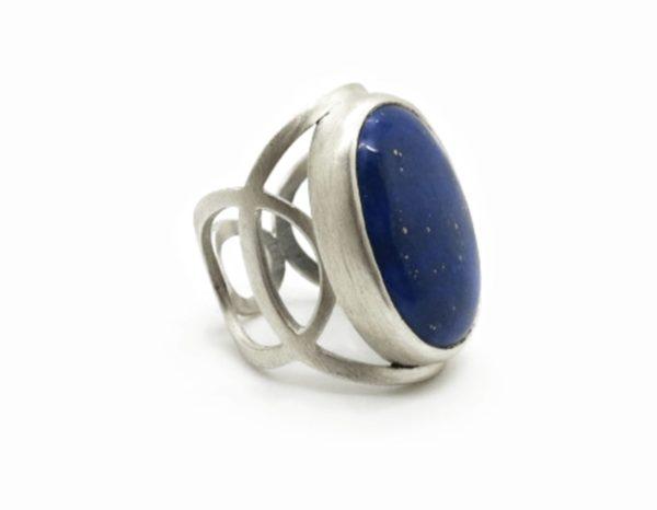 Argent et lapis-lazuli