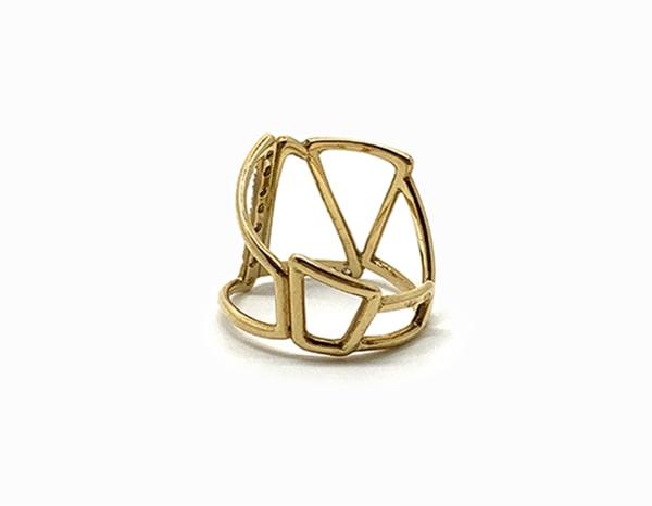 Archi en or jaune et diamants